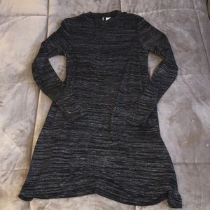 Long Sleeve Moc-Neck T-shirt Dress !